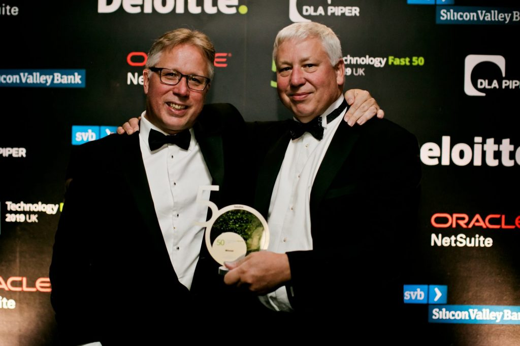Deloitte Fast 50 Jonathan and Simon Papworth Person Centred Software